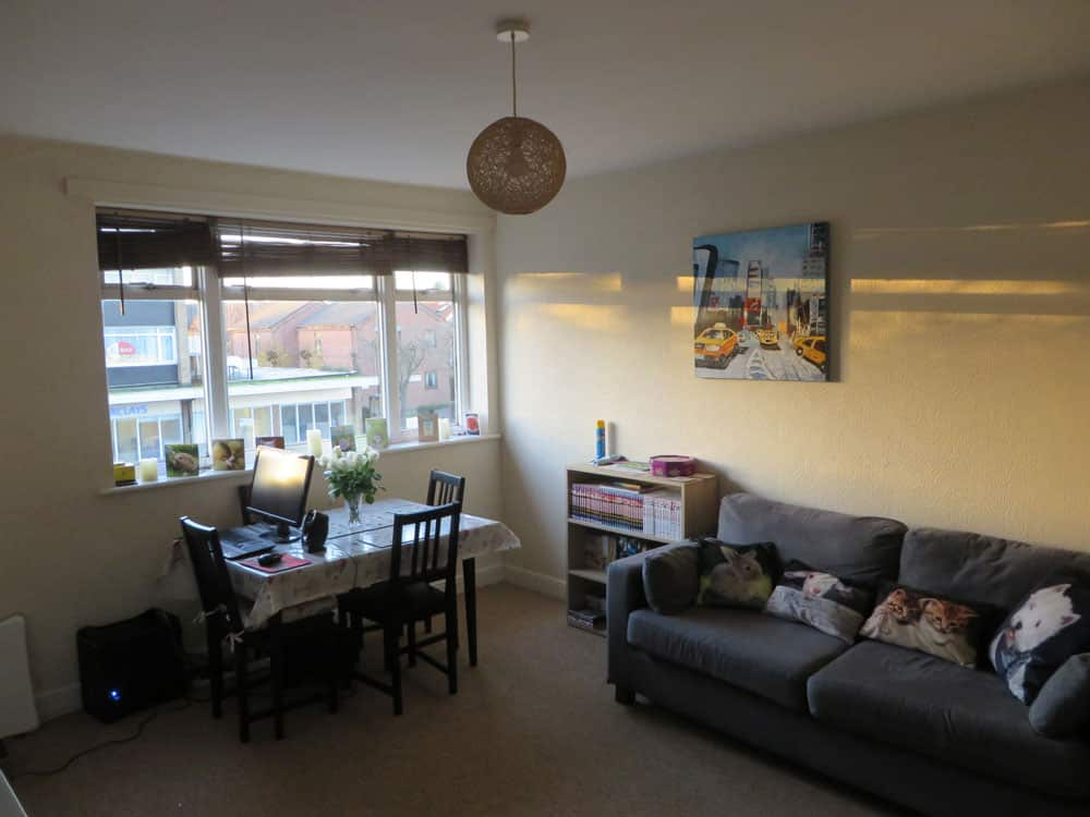Norwich Student Accommodation - Living/dining room in flat